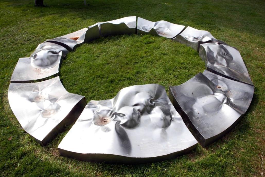 Mandala marée noire - Alain Vuillemet - Jardin des Arts 2011