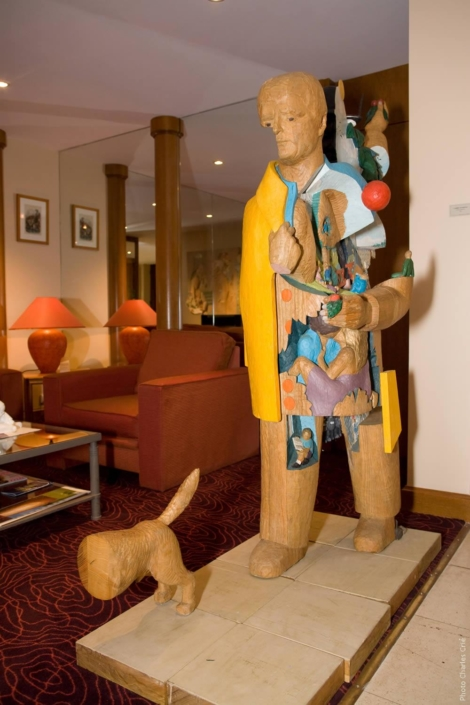 L'homme qui marche - Alain Marcon - Jardin des Arts 2008