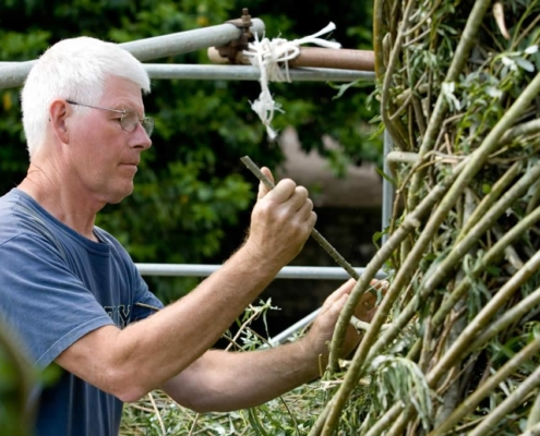 Patrick Dougherty - Artiste Jardin des Arts 2008
