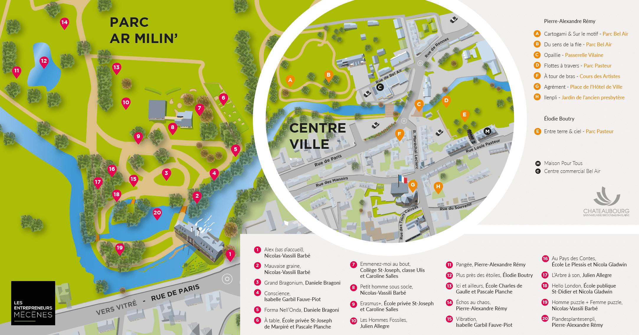 Jardin des Arts - plan de visite