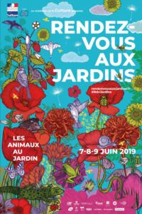 L'affiche Rendez-vous aux jardins 2019