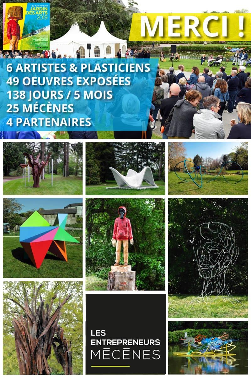 Remerciements - Jardin des Arts 2019