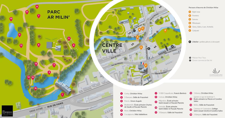 Parcours de visite Jardin des Arts 2020