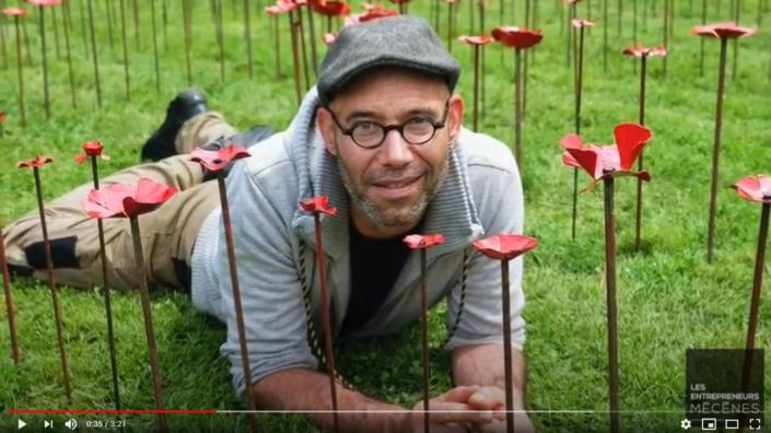 Francis Benincà - portrait d'artiste Jardin des Arts 2020