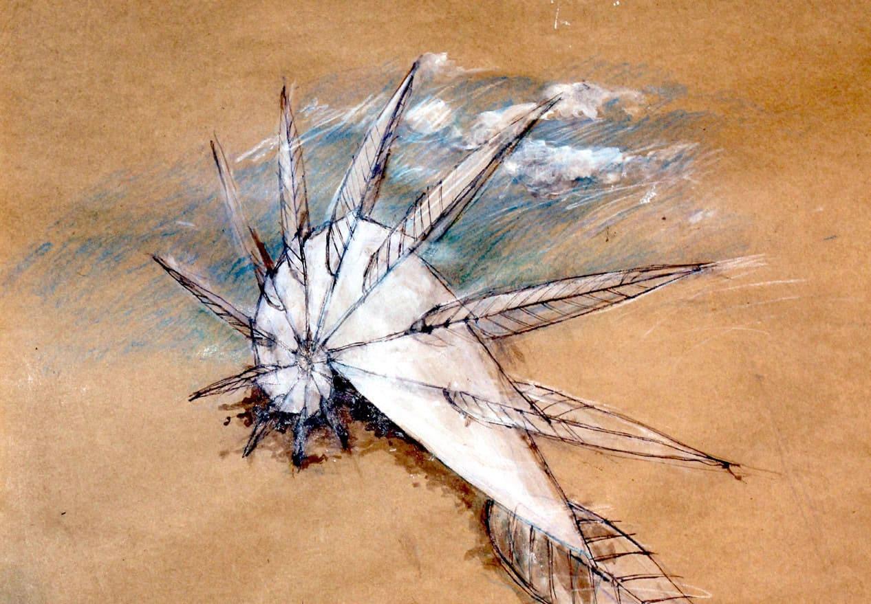 Aile et plume - Oeuvre de Alice Morlon - Jardin des Arts 2021