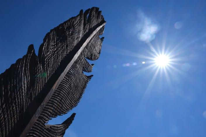 La plume d'Icare de Philippe POUSSET - Jardin des Arts 2021